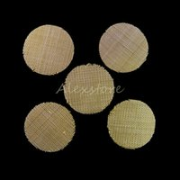 Wholesale brass pipe smoke resale online - Tobacco Smoking Pipe Screen Metal Filters Silver Brass Stainless Steel mm Mesh Bowl for Tobacco Pipe Smoking