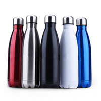 Wholesale Green Flasks - Thermos Flask Travel Sport 304 Stainless Steel Cups Stainless Steel Vacuum Bottles 350ml 500ml 750ml Free Shipping