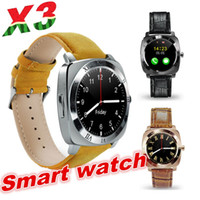 Wholesale Android X3 - X3 Smart Watch Pedometer Fitness Clock Camera SIM Card Mp3 Player man for IOS Android Watchphone