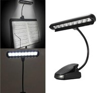 Wholesale Piano Desk Lamp - New Mighty Bright clip-on clip on Orchestra piano music stand 9 LED light reading desk lights lamp FAST SHIPPING