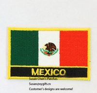 Wholesale Iron Patches Flags - Mexico Flag Patches Iron on patch,embroidery patches,logo embroidery patches,embroidery patches for clothing,custom embroidery patches,