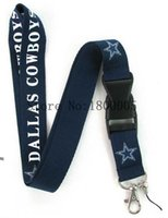 Wholesale Cowboy Buckles Wholesale - 10Pcs Factory Price Dallas Cowboys Summer Style Lanyard,Keychain ID Holder Lanyard,Cell Phone Neck Strap Lanyards With Buckle #A1570