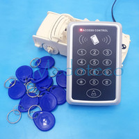 Wholesale Door Keypad System - Cheap Special Price 10PCS 125khz rfid tag+RFID Proximity Card Access Control System RFID EM Keypad Card Access Control Door Opener