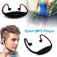 Wholesale Radio Player Wireless Headset - Portable Wireless Headphones Sport MP3 Player Earphones Headset Music Player Support Micro SD TF Card FM Radio for Gym Running