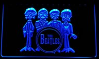 Wholesale beatles band for sale - LS076 b The Beatles Drum Band Bar Neon Light Sign