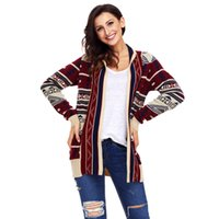 Maglione di Natale Retro Novelty Ladies Open Womens Plus Plus Dimensione Drape Front Open Cardigan Long HACCI