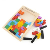 Bunte Tangram Puzzle Tetris Educational Intellectual Developmental Baby-Spielzeug