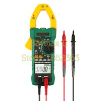 Wholesale Digital Interface - Wholesale-MASTECH MS2115B True RMS Digital AC DC Clamp Meters Capacitance Frequency Tester W USB Interface & NCV