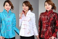 women s 16 coat with best reviews - Traditional Chinese Women's Embroidery Silk Jacket Coat Cheongsam Size 6 8 10 12 14 16 Red White Blue