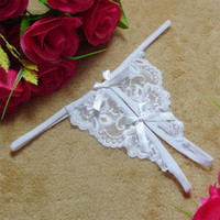 Wholesale Lady C Bikini - 2016 Summer Women Sexy Butterfly Lace Underwear C-string Panties Charming lady Bikinis Thongs G-string Lingerie