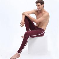 Wholesale Thin Cotton Underwear For Men - Cotton Thermal Pants Men Long Johns Thin Elastic For Mans Underpants Long Underwear WJ Brand Bottoms Leggings Pants