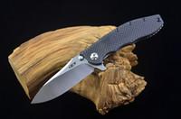 cuchillos de bolsillo de alto carbono al por mayor-De gama alta ZT ZT0562CF supervivencia Flipper cuchillo plegable, punto de gota hoja de satén, IKBS, excursiones al aire libre camping navaja de bolsillo EDC