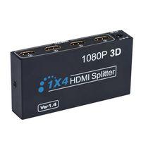 Wholesale Splitter Repeater - OEM HDMI Splitter Box Full HD 1X4 4 Port Hub Repeater 3D 1080P US Plug