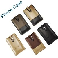 Wholesale iphone belt loop pouch resale online - New Sport Wallet Case with Outdoor Hook Loop Belt Pouch Holster Leather Phone Bag Holder Cover for iphone samsung DHL Free SCA144