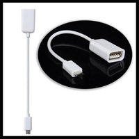 Wholesale High Quality Otg Cable - High Quality Micro USB OTG Cable for Samsung Galaxy S2 S3 S4 i9500 i9300 i9100 Note N7000 i9220 OTG Cable Adapter Black white 1000pcs lot