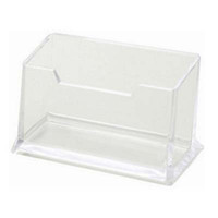 Wholesale Materials Companies - New 6pcs Business Card Holders Transparent Plastic Office Destop ID Card Organizer Company Office Supply Material Escolar Papelaria
