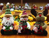 Wholesale dolls foots resale online - Hot Sell Christmas Santa Claus Dolls candy bags Plush Christmas Dolls Christmas Decorations For Home Merry Xmas