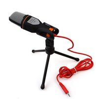 Wholesale Multimedia Computer Microphone - 100% Brand New SF-666 Multimedia Sing Studio 3.5mm Condenser Wired Computer Microphone Mic+Tripod Stand for PC Laptop Notebook DHL fast