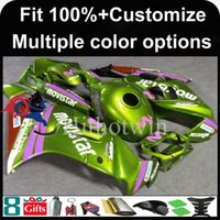 Wholesale Orange Honda F3 - 23colors+8Gifts Injection mold Light green motorcycle cowl for HONDA CBR600F3 1997-1998 F3 97 98 ABS Plastic Fairing