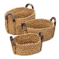 Wholesale Rustic Food - New** Set of 3 Rustic Woven Nesting Baskets