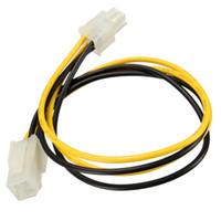 pc anakart kabloları toptan satış-Toptan-Yeni Varış 5 adet 35 cm 4 Pin ATX Erkek Kadın Güç Anakart Uzatma Kablosu HDD Adaptör Kablosu Kurşun Tel PC Için