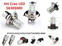 Wholesale h16 led bulbs - 12V White 9W Cree 5630 12 LED H4 h7 h11 h16 9005 9006 1156 1157 DRL led driving Fog Light Bulb