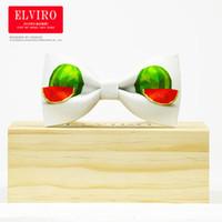 Wholesale Tuxedo Tie Free Shipping - Free shipping mens white watermelon bow ties stage performance tuxedo bow ties
