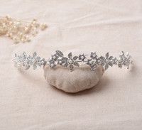 Wholesale Ladies Prom Dress Wholesale - The Actual Shooting Lady Girl Tiara Crown Jewelry Bridal Wedding Rhinestone Sparkling Evening Prom Party Dresses Accessories Supplie
