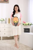 Natural Color cartoons of nursing - The summer pregnant women nursing dress out of fashion dress cartoon cute cotton short sleeved dress on leisure clothing confinement