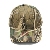 Wholesale Jungle Camouflage Hats - New Fashion Men camouflage jungle hat cotton Snapback Smooth Mens baseball hat cap wholesale outdoor hunting camping adjustable caps