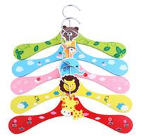 Wholesale Dog Clothes Rack - Animal Patterns Colorful Cartoon hanger dog clothes rack pet clothes hanger wholesale