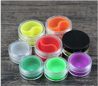 Wholesale Assorted Acrylic Shapes - 10ml Wax Container Acrylic Container Silicone Jars Dab Wax Container With Round Shape Assorted Color 500pcs lot