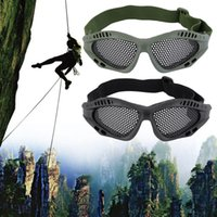 Wholesale Metal Mesh Goggles - Wholesale-2016 New Durable Outdoor Tactical Goggles Mask Safety Protect Glasses Metal Mesh Eyewear Eye Protective Safety Tactical