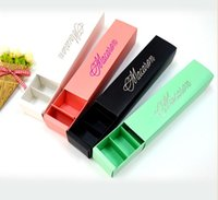 macarons packaging boxes - 500pcs paper macarons box particle loading chocolate biscuit box drawer type cookie cake box Baking packaging gift boxes