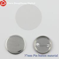"Wholesale Blank Pin Badge - Wholesale-Free shipping Metal Pin Blank Badge Material 1.5""(37mm) 500sets ,Badge Machine parts"