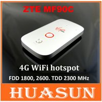 Wholesale Zte Wifi Router - DHL EMS free shipping zte MF90c MiFi 4g lte wifi Router Support LTE FDD 1800 2600MHz TDD 2300MHz MIFI 3G wifi hotspot