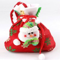Wholesale Sell Candy - New Style Gift Bags Print Christmas Bag Candy bag Event & Party Supplies Christmas Party Decoration 2016 Hot Selling