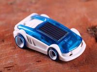 Wholesale Solar Vehicles - Solar salt hybrid car small sports car, children toy car science enlightenment experimental model