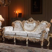 Living Room Sofas carved wood sofa - french country style living room furniture hand carved living room furniture sets