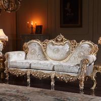 los muebles tallados mano de la sala de estar de la sala de estar del estilo del pas francs fijan el envo libre