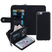 Wholesale Iphone4s Frame - 2 in 1 Multi-Function Zip WalletCase for iPhone4S 5S 5C SE iphone6 Magnetic Leather Case with Card Slot+Photo Frame+Strap Coque for I6 Plus
