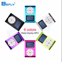 mini reproductor mp3 pantalla digital al por mayor-Hot marking Mini USB Clip Reproductor de MP3 Pantalla LCD de 32 GB Micro SD TF Tarjeta Digital Mp3 jugadores vienen con auricular Cable USB