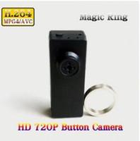 Wholesale Low Light Mini Camera - Low Light H.264 720P HD Mini DVR Spy Button Camera Video Recorder with Magic Controller Remote in Retail Box Dropshipping
