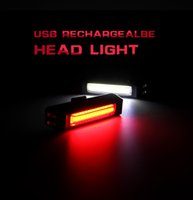 Wholesale Bycicle Lights - Super Bright COB Comet USB Rechargeable Bike Tail Light Taillight Lamp Safety Warning LED Mtb Bike Bicycle Rear Light Bycicle
