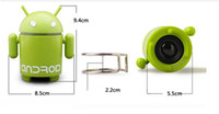 Wholesale Mp3 Player Android Robot - Google Android Robot Speaker Mini Portable Lovely Speaker With U Plate MP3 Player TF Card Slot Speakers