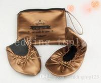 1de57467ed3e Wholesale foldable ballet flats wedding for sale - Hot selling gold color women  foldable shoes folding