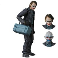 Wholesale bank dc - DC Batman The Dark Knight Bat Man The Joker Bank Robber Joker Ver Heath Ledger Cartoon Toy PVC Action Figure Model Doll Gift