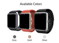 Wholesale Turkish Silver Bracelets Wholesale - GT08 Bluetooth Smart Watch with SIM Card Slot and TF Health Watchs for Android Samsung and IOS Apple iphone Smartphone Bracelet Smartwatch