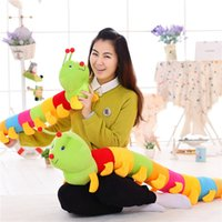 Peluches Peluches Peluches Cartoon Anime Arc-en-ciel Caterpillar Poupée Jouet Pillow pour Enfants Cute Carpenterworm Plush Hold Oreillers