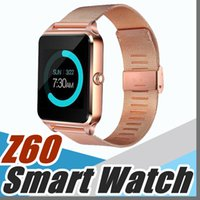 Wholesale Camera N - 1X Bluetooth Smart Watch Phone Z60 Stainless Steel Support SIM TF Card Camera Fitness Tracker GT08 DZ09 Smartwatch for IOS Android N-BS
